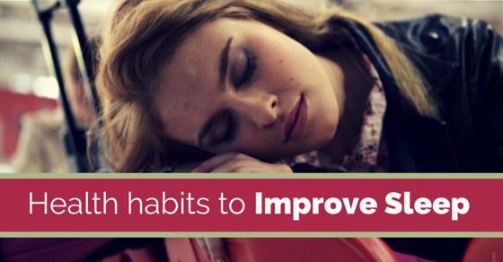 improve sleep habits
