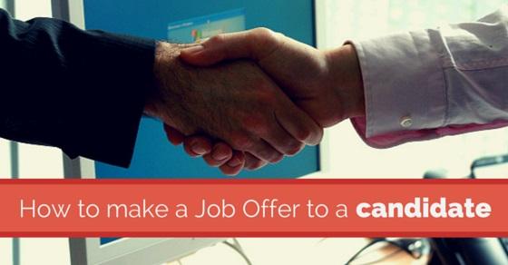 making a job offer