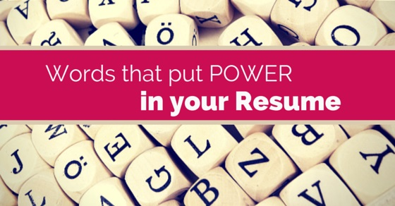 Powerful Resume Words  Good Words For Resumes