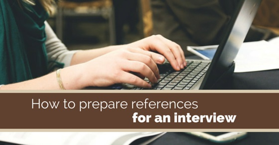 references for an interview