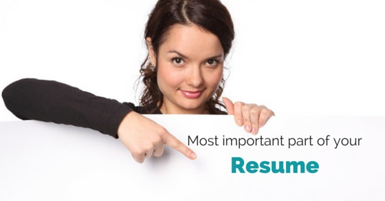 important parts of a resumes