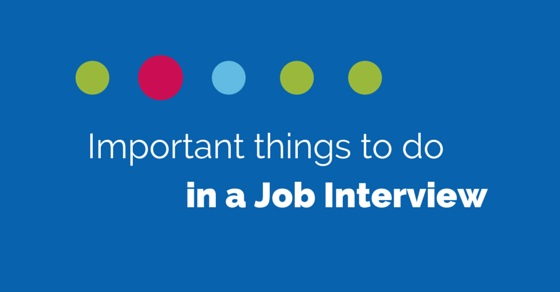 things to do in interview