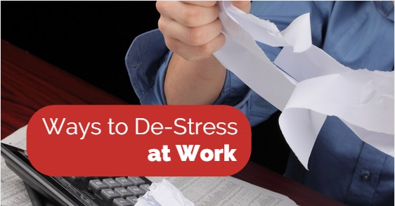 Ways to destress at work