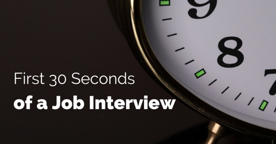 30 seconds job interview