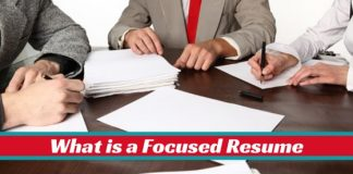 What is focused resume