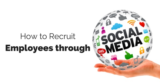 how to recruit through social media