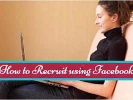how to recruit using facebook