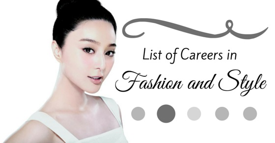 list careers in fashion style