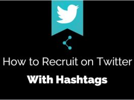 recruit on twitter with hashtags