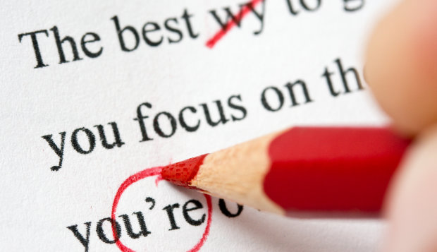 resume grammar errors