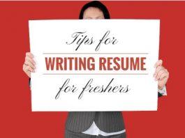 resume writing freshers tips
