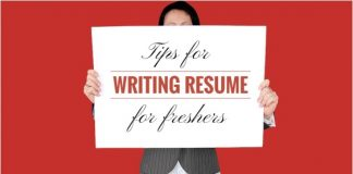 resume writing freshers tips