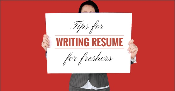 how to write a attractive resume for freshers