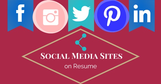 social media sites on resume