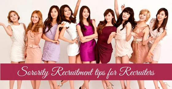 sorority recruitment tips recruiters
