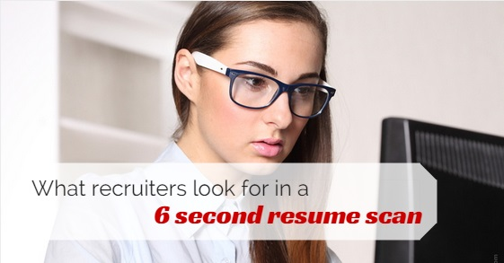 what recruiters actually look for in 6 second resume scan wisestep