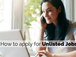 applying for unlisted jobs