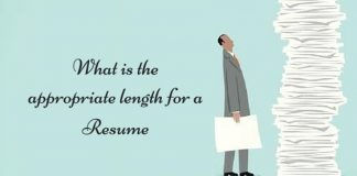 appropriate length for resume
