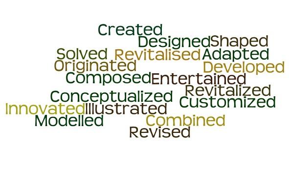 creative words to use resume