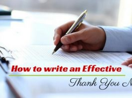 effective thank you note
