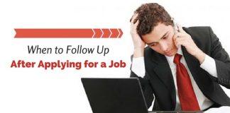 follow up after applying job