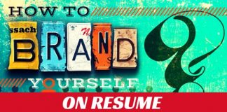how brand yourself resume