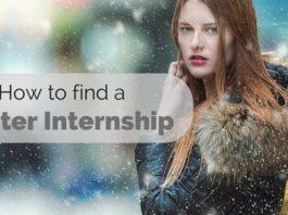 how to find a winter internship