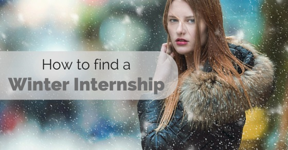 how to find a winter internship