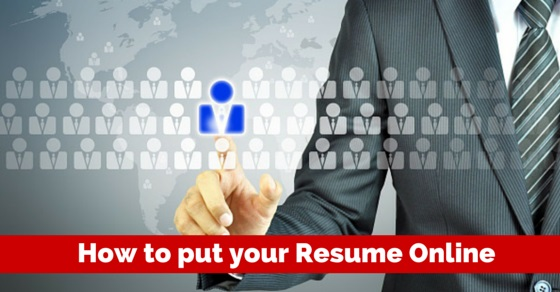 how to put resume online