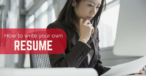 how to write own resume