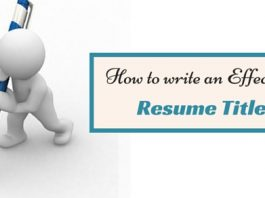 how write effective resume title