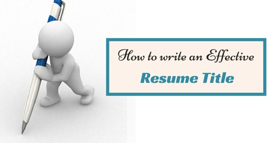 Attractive resume titles