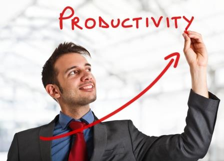 increase in employee productivity