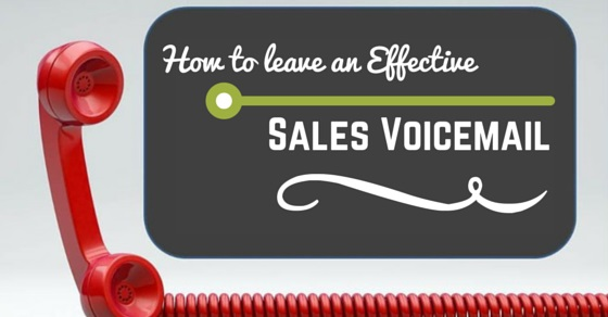 leaving effective sales voicemail