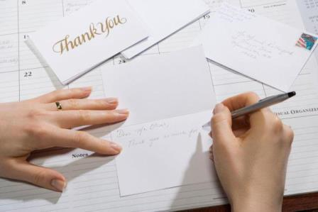length of thank you letter