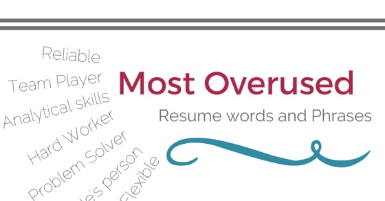 Most Overused Resume Words  Cv Words