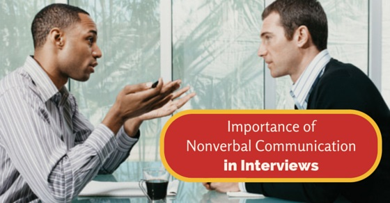 nonverbal communication in interviews