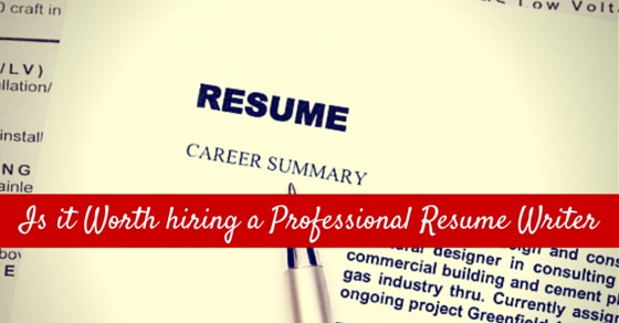 professional resume writer worth it