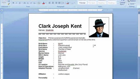 putting pictures in resume
