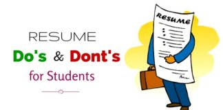 resume do's and don'ts students