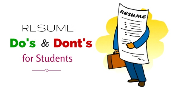 important resume dos and don ts for students to remember wisestep