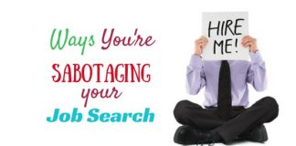 sabotaging your job search