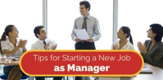 starting new job as manager