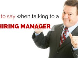 talk to hiring manager