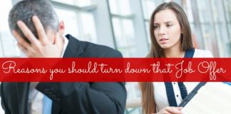 turn down job offer