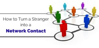turn stranger into network contact