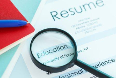 writing education on resume