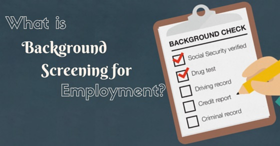 background screening for employment