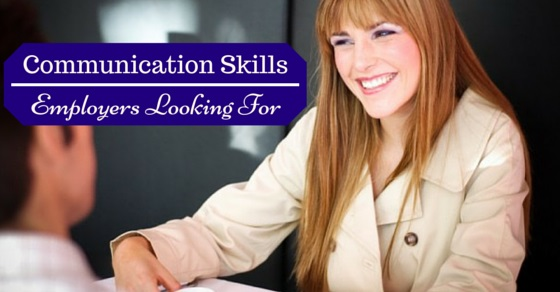communication skills employers look for