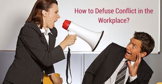 defuse conflict in workplace